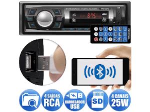Rádio Roadstar, com bluetooth, usb, auxiliar, instalado com 15% de desconto na TECHFILM
