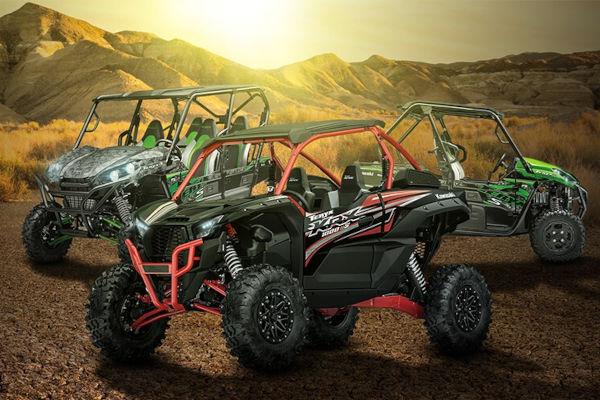 Lançamento de 3 modelos Kawasaki Teryx